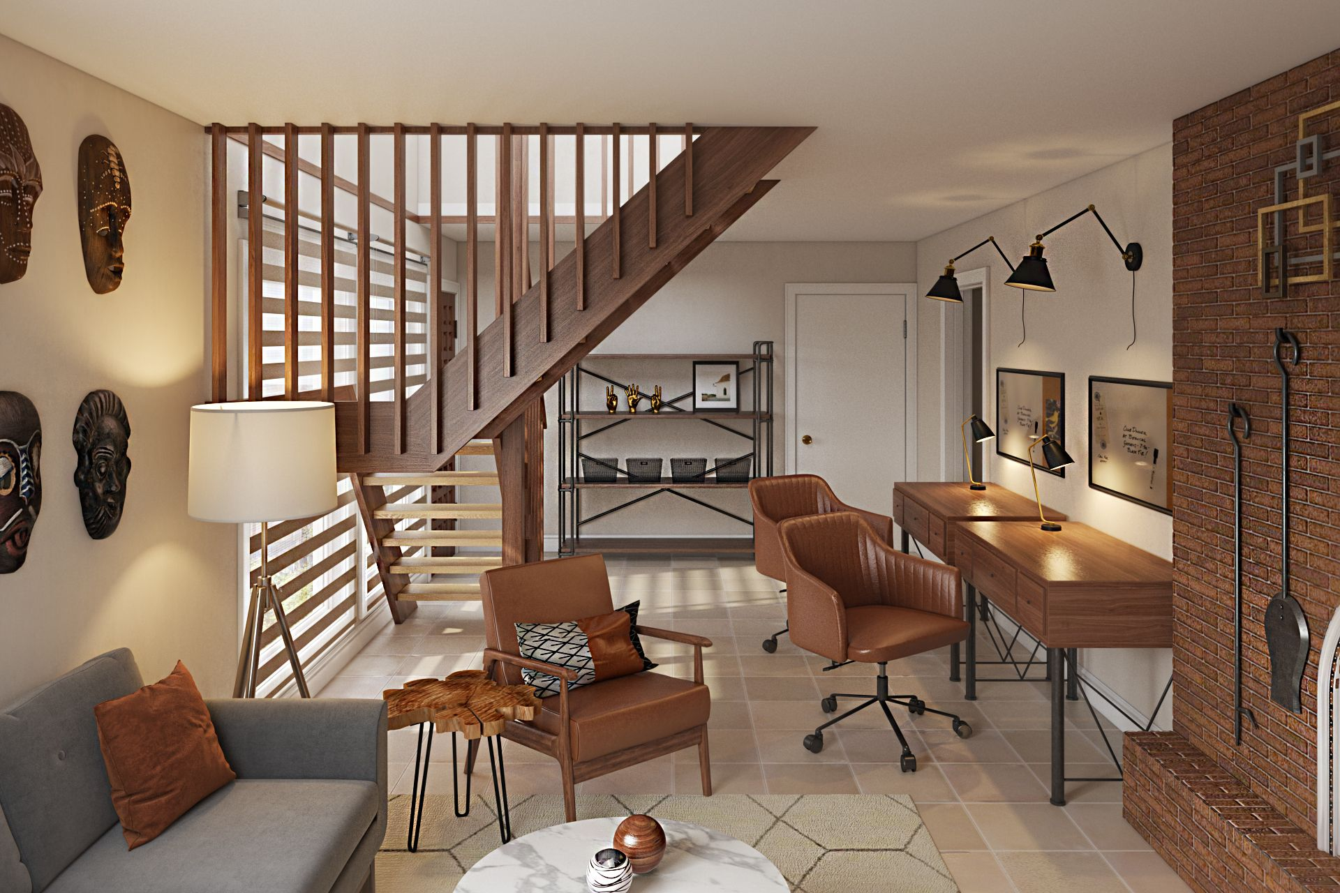 Industrial, Midcentury Modern Design by Havenly Interior ...