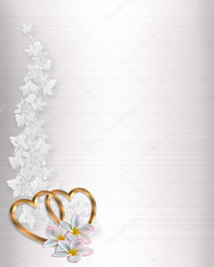 3d Illustrated Gold Hearts And Flowers Design Element On White Satin For Va Wedding Invitations Borders Wedding Invitation Background Wedding Invitation Vector