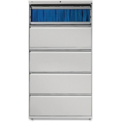 Lorell 5-Drawer Lateral File In Light Gray