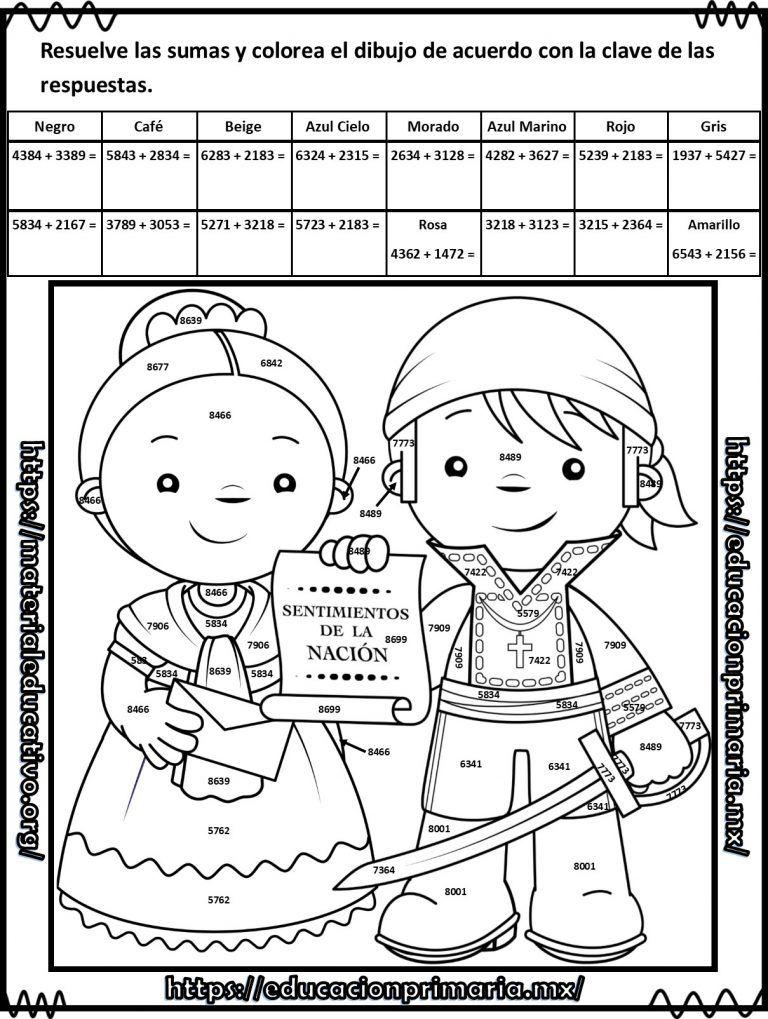 Suma Resta Multiplica Y Colorea El Dibujo De La Independencia Dibujos De La Independencia Ejercicios Matematicas Primaria Material Didactico Para Matematicas