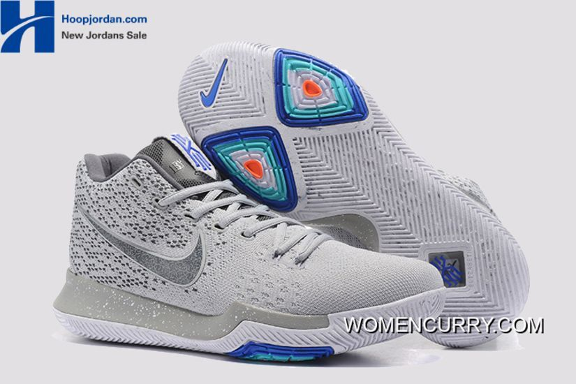 'Wolf Grey' Nike Kyrie 3 PE Men's Basketball Shoes Authentic, Price: $88.79  - Women Stephen Curry Shoes Online