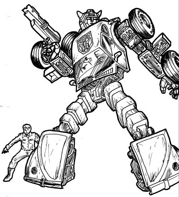 Bumblebee Transformers Coloring Pages Online Cartoon Coloring
