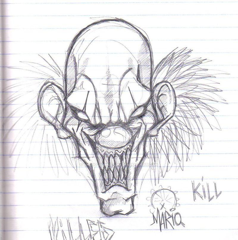 Evil clown (com imagens)   Tatuagem de palhaço, Palhaço ...