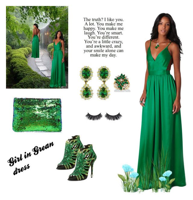 """Green dress"" by amra83 ❤ liked on Polyvore featuring Contrarian, Boohoo and Palm Beach Jewelry"