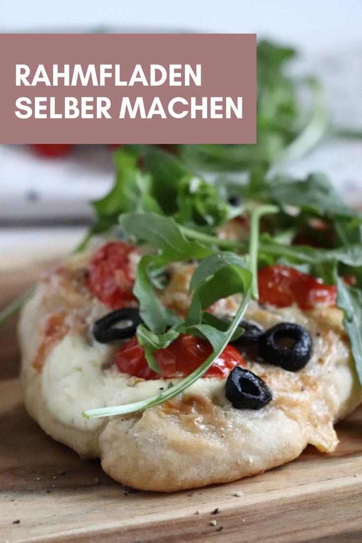 Rezept: Rahmfladen - vegetarisch genießen - Lavendelblog #vegetarischerezepte