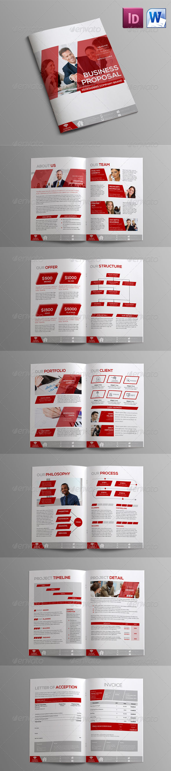 construction proposal templates%0A Sleman Clean Proposal Template Volume