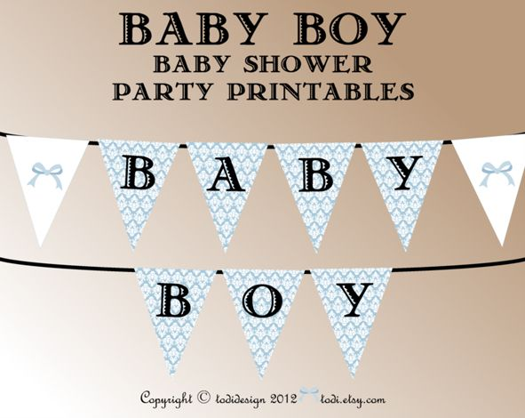 printable baby shower banner template toppers wrappers and the party banner are now available on my etsy