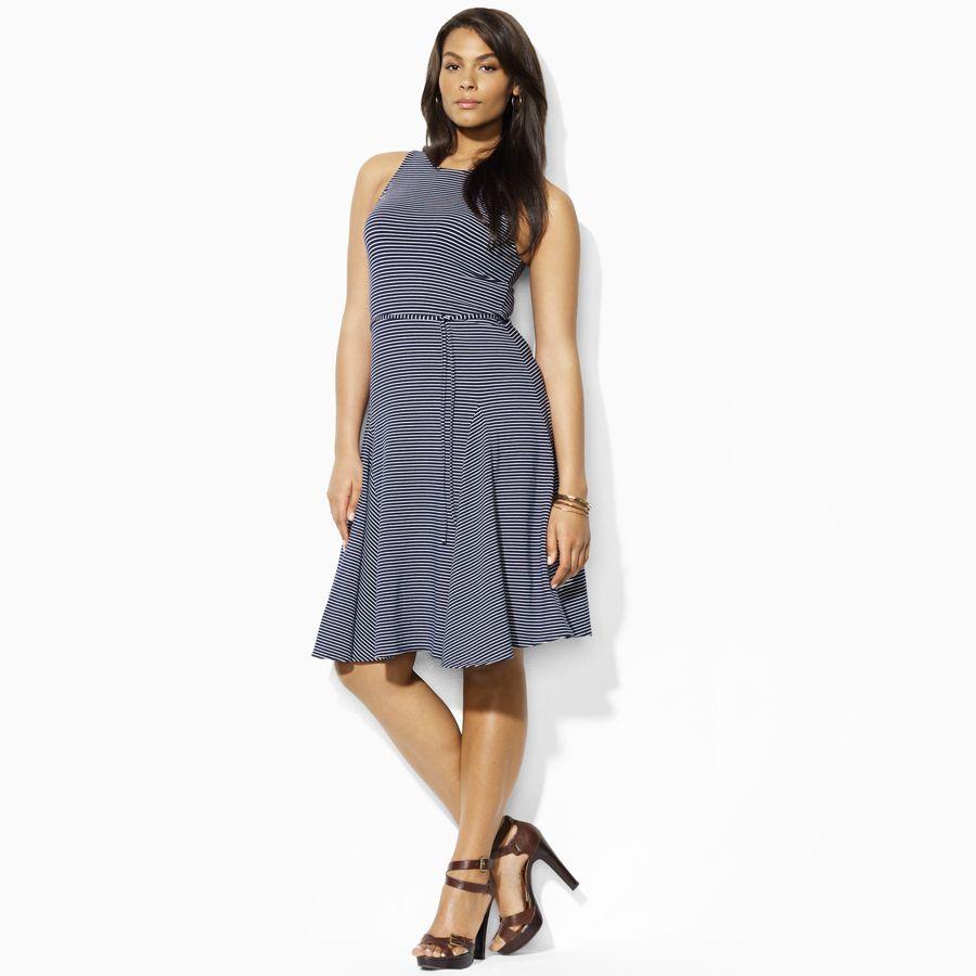 Lauren By Ralph Lauren Plus Size Cotton Modal Tank Dress Spring