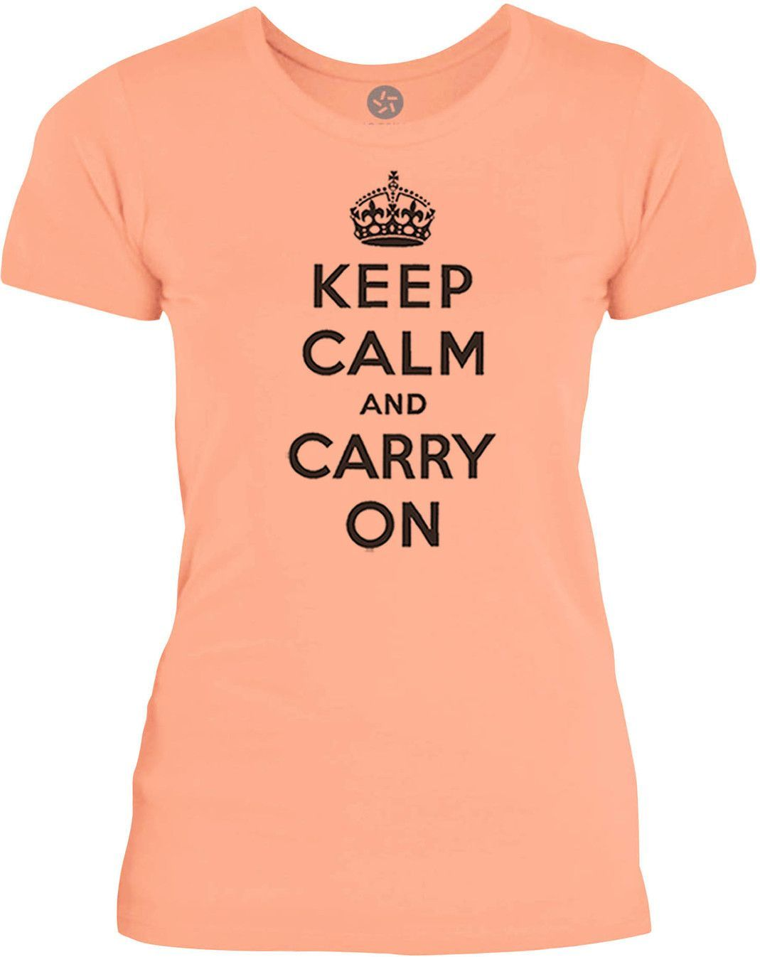 Big Texas Keep Calm and Carry On (Black) Womens Fine Jersey T-Shirt