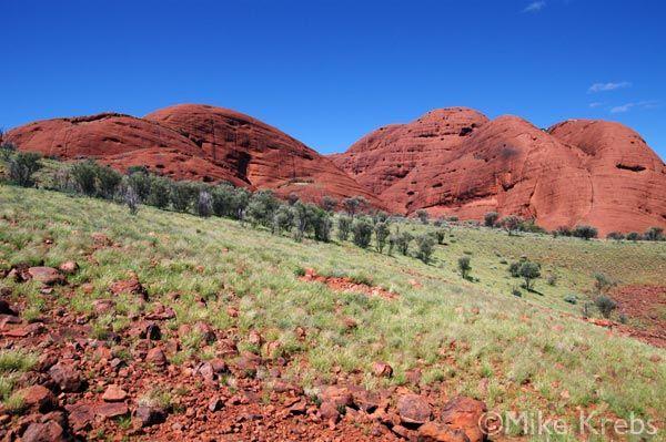 Kata Tjuta is the other monolith near Uluru (from All Ways Australia)