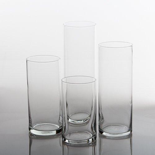 Eastland Glass Cylinder Vases Set Of 4 Glass Cylinder Vases And