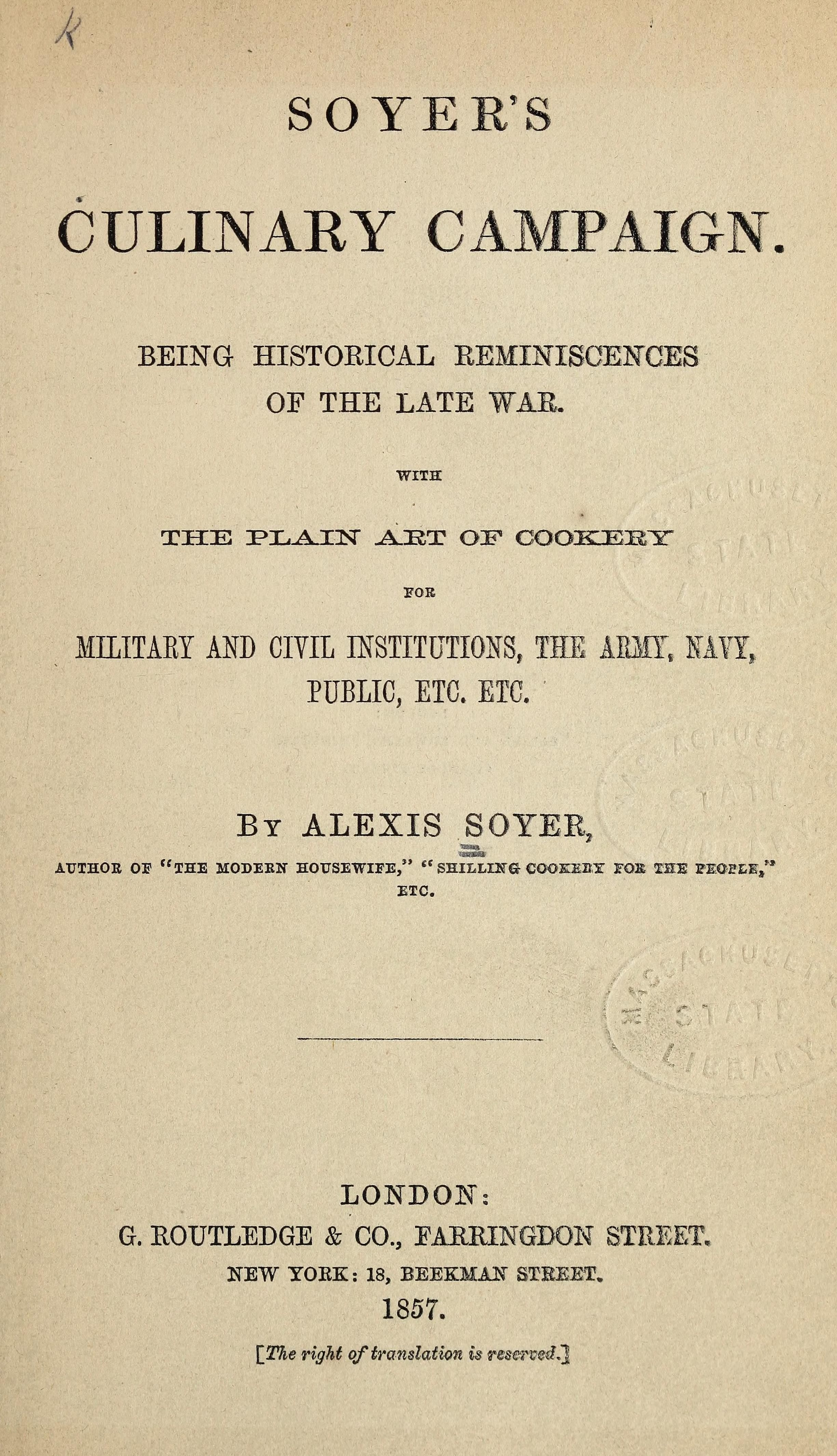 the chef at war soyer alexis
