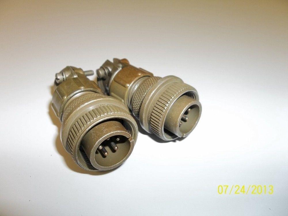 2 Electric Male Wire Connectors MS305765P Bendix