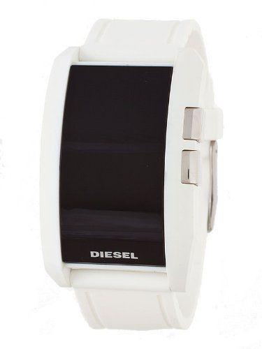 Diesel digital dial white silicone men's watch dz7168 diesel.