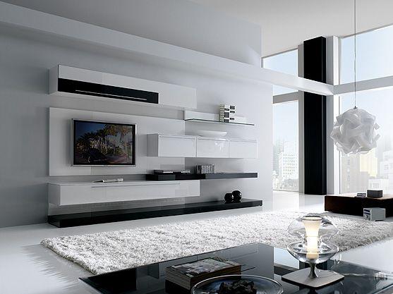 Zwart ontmoet wit #interieur Living Pinterest Modern and House