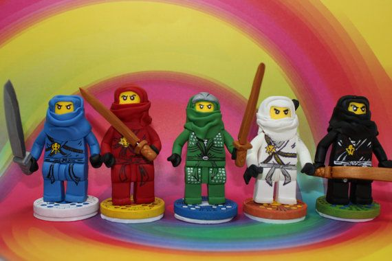 Ninja Team Cake Topper by GiddyNiddy on Etsy, $160.00