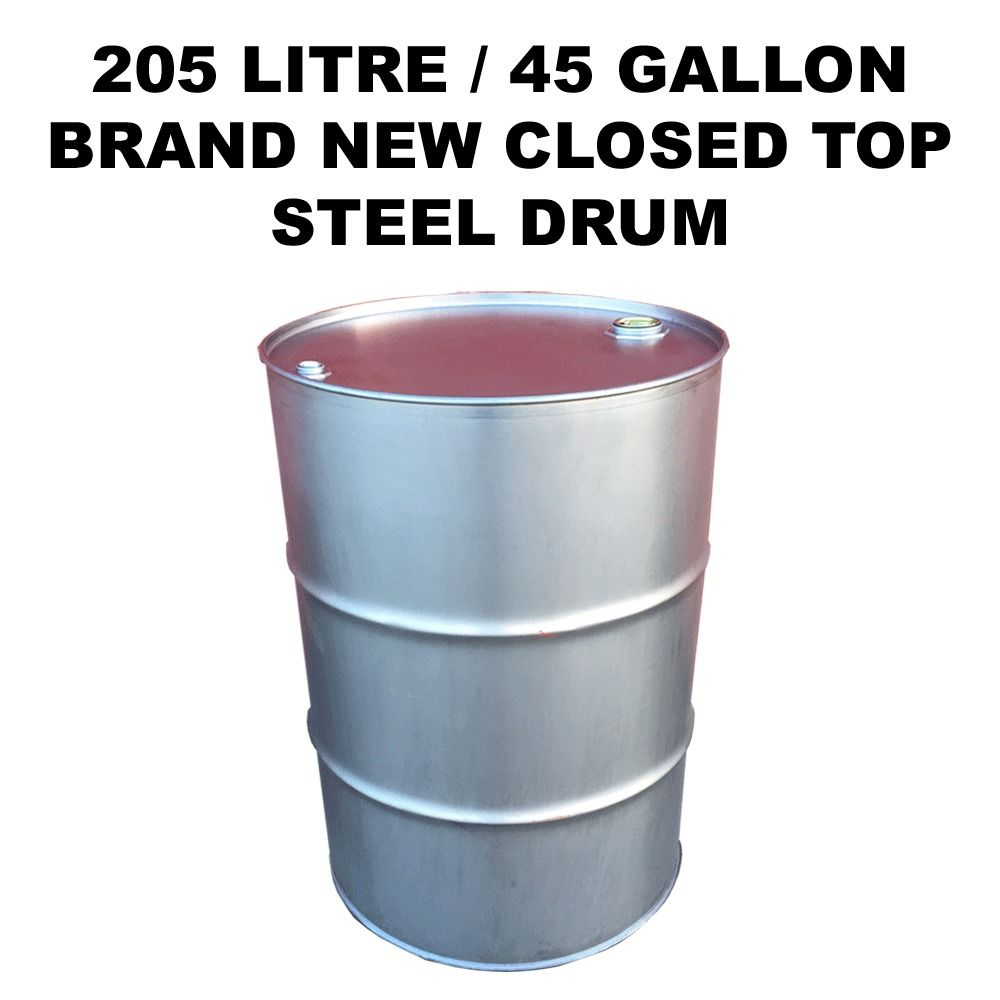 205 litre45 gallon brand new closed top steel drumbarrelcontainer