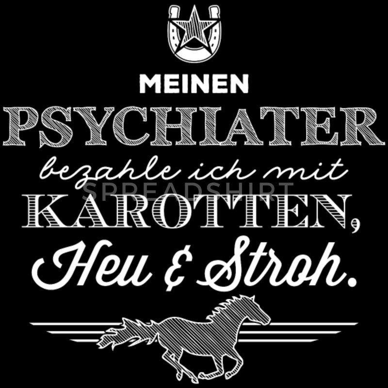 Das Pferd mein Psychiater – weiße Edition Frauen Premium T-Shirt | Spreadshirt