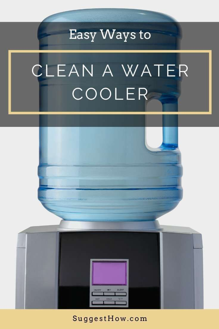 How To Clean A Water Cooler Step By Step Guide Water Coolers Clean Water Bottles Clean Water Dispenser
