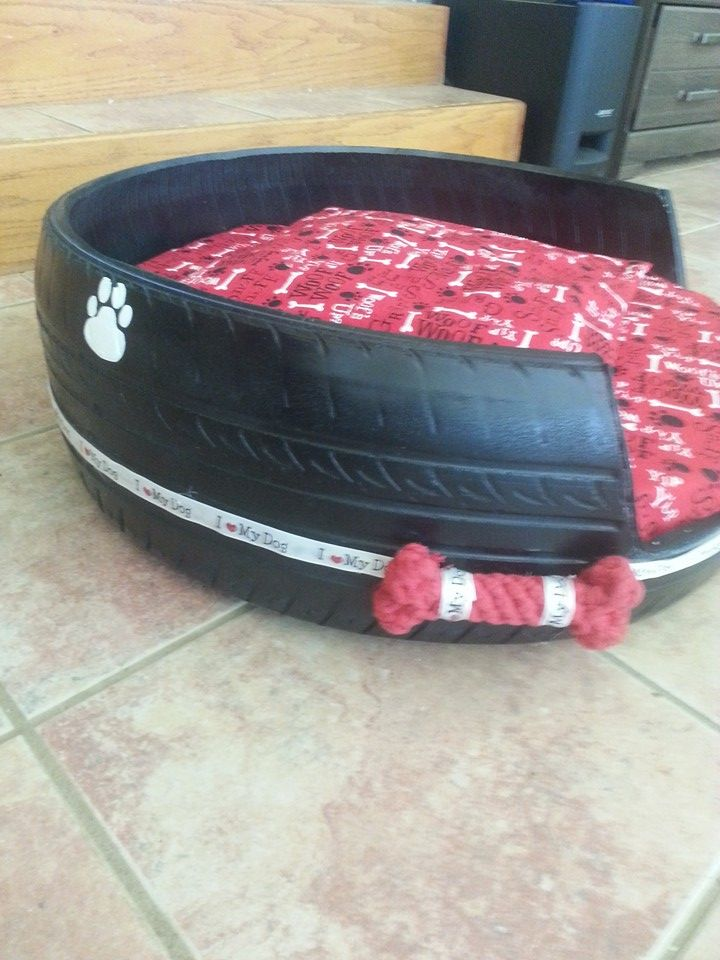 I Made This Dog Bed From A Car Tire