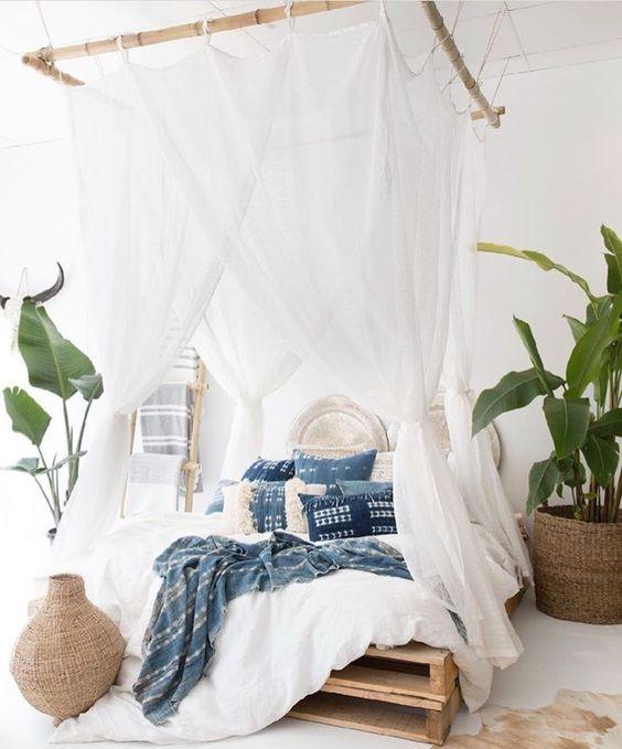 Дизайн интерьера спальни в стиле Бохо #стильбохо # ...