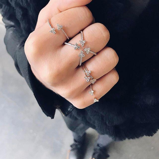 On Fridays we wear EF Collection diamond trio rings ✨Xo, EF