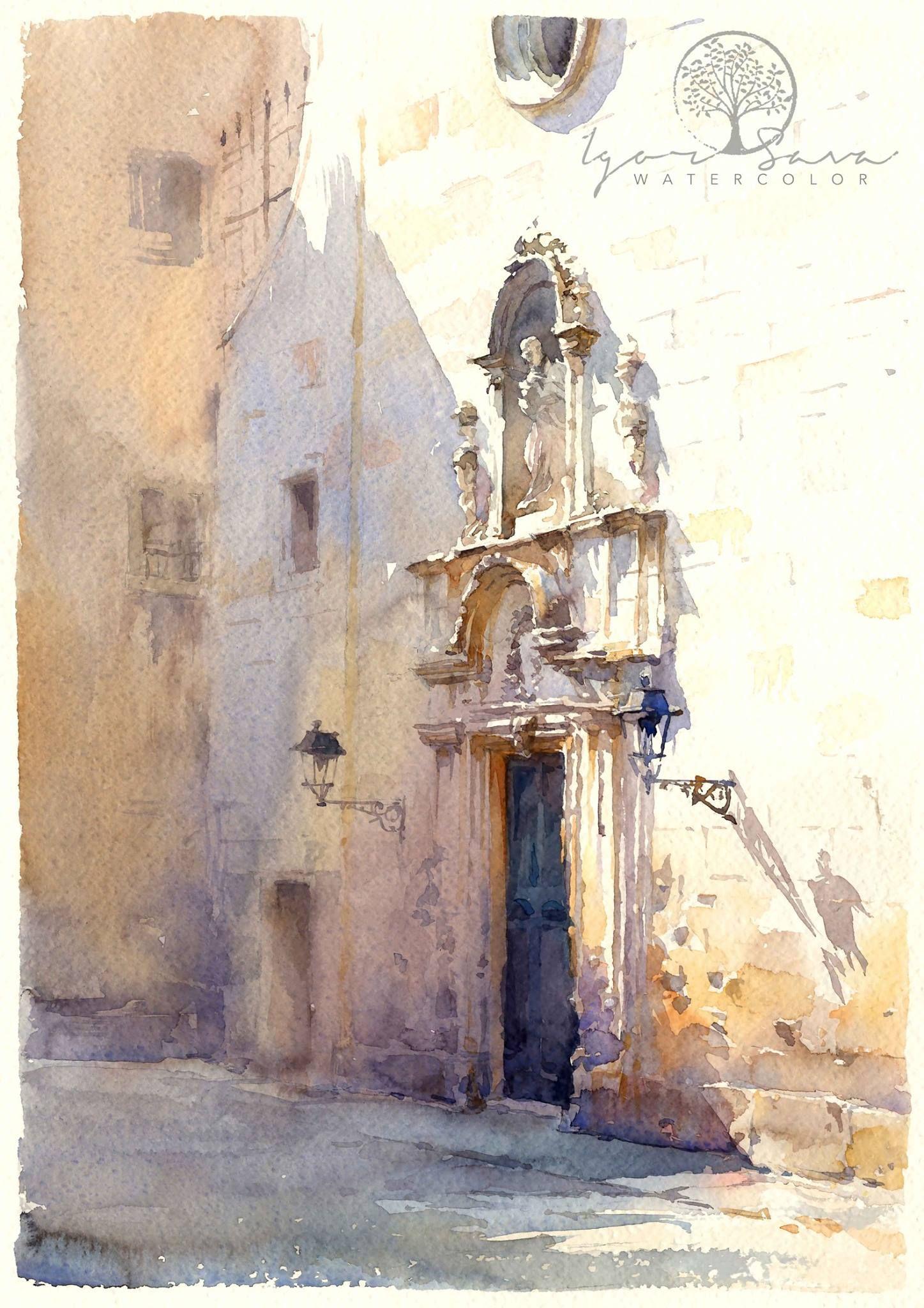 Igor Sava Barcellona 35x50 Colorful Art Art Painting Art