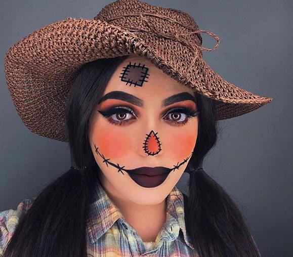 24 + Vogelscheuche Make-up-Ideen für Halloween für Sie empfohlen