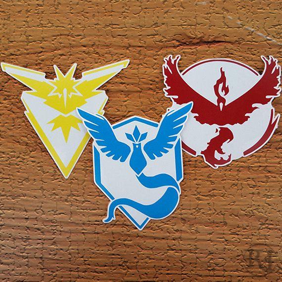 Get your vinyl team emblem today at https://www.etsy.com/listing/465145775/pokemon-go-team-decals-instinct-mystic