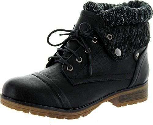 REFRESH WYNNE-01 Women's combat style lace up ankle bootie * Be ...