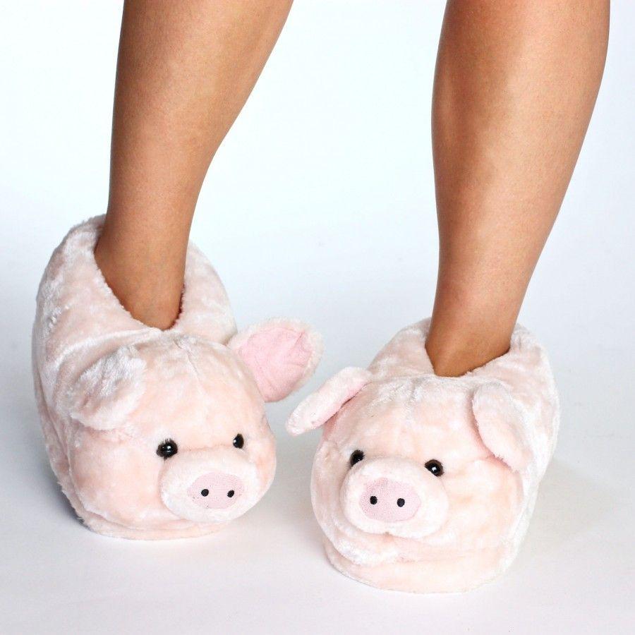 Zapatillas De Estar Por Casa En Forma De Animales Cerdo Para Hombre Mujer Y Niño Sleeper Z En 2020 Pantuflas De Peluche Pantuflas Ropa Para Niñas