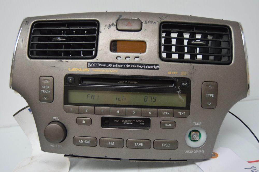 2005 06 Lexus Es330 Radio 6disc Player Ac Climate 8612033512 Parts Rhpinterest: 2005 Lexus Es330 Radio At Gmaili.net