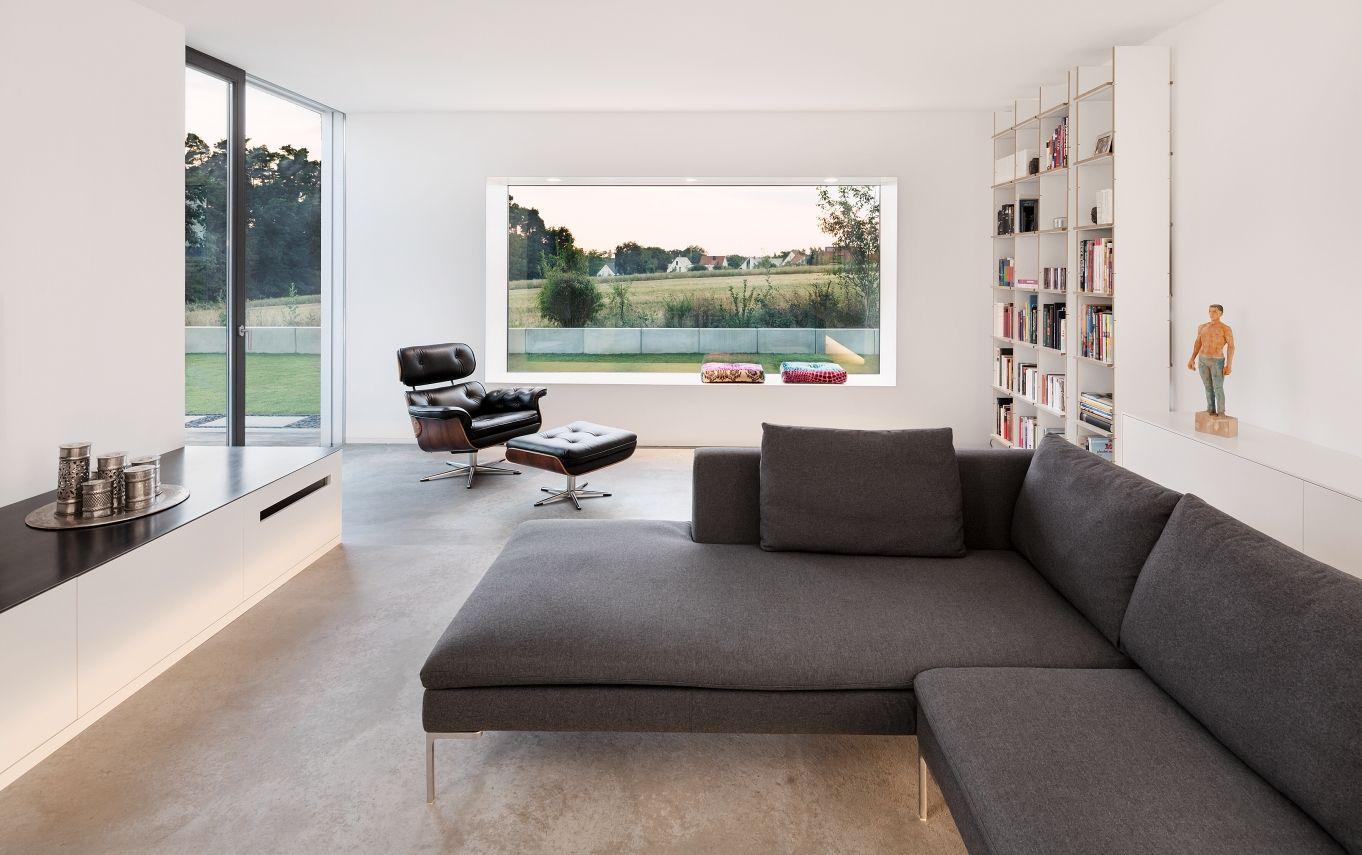 Wohnzimmer des modernen interieurs des hauses neubau wh m   wohnzimmer  pinterest  interiors
