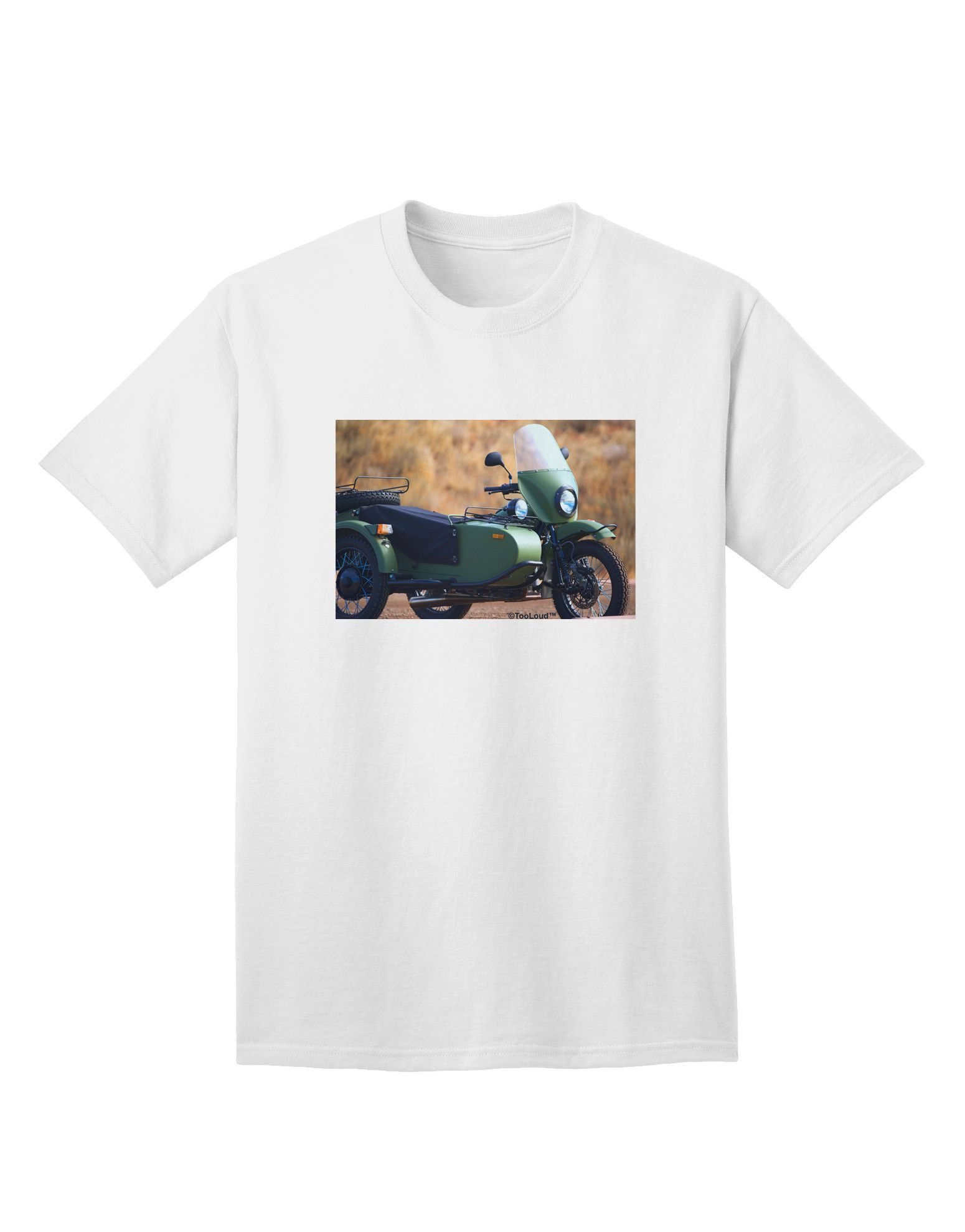 Sidecar Motorcycle Photo Adult T-Shirt | Sidecar and Products