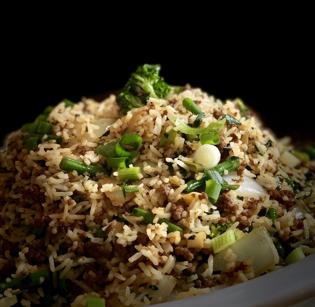 Soy Sauce Basmati Rice with Minced Beef and Vegetables ...