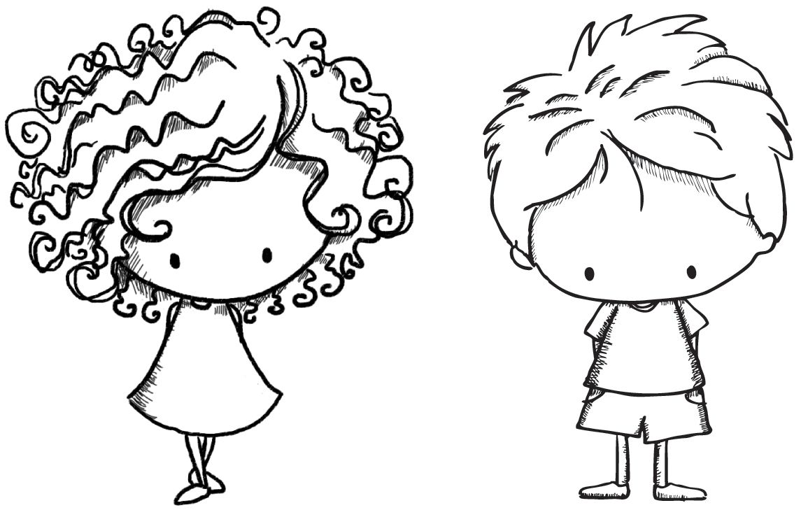 Stamping Bella Unmounted Rubber Stamp-Arthur and Annie