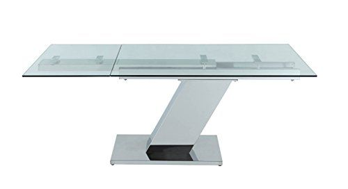 Ultra Sleek Stainless Steel & Glass Modern Executive Desk or Conference Table (Extends) WL http://www.amazon.com/dp/B00PKJIZS0/ref=cm_sw_r_pi_dp_3Va5ub1SH7T7H