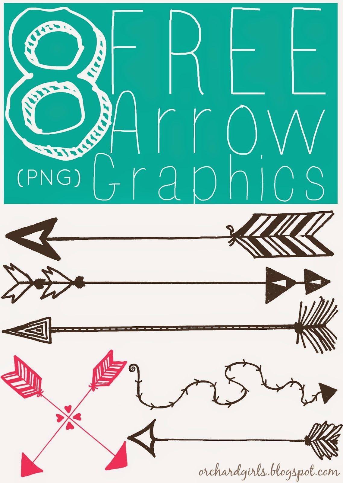 FREE Arrow Graphics (PNG) by Orchard Girls | .Graphics. | Pinterest ...
