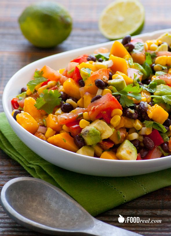 Clean mango black bean salad this salad is a mix between corn clean mango black bean salad this salad is a mix between corn and black ccuart Image collections