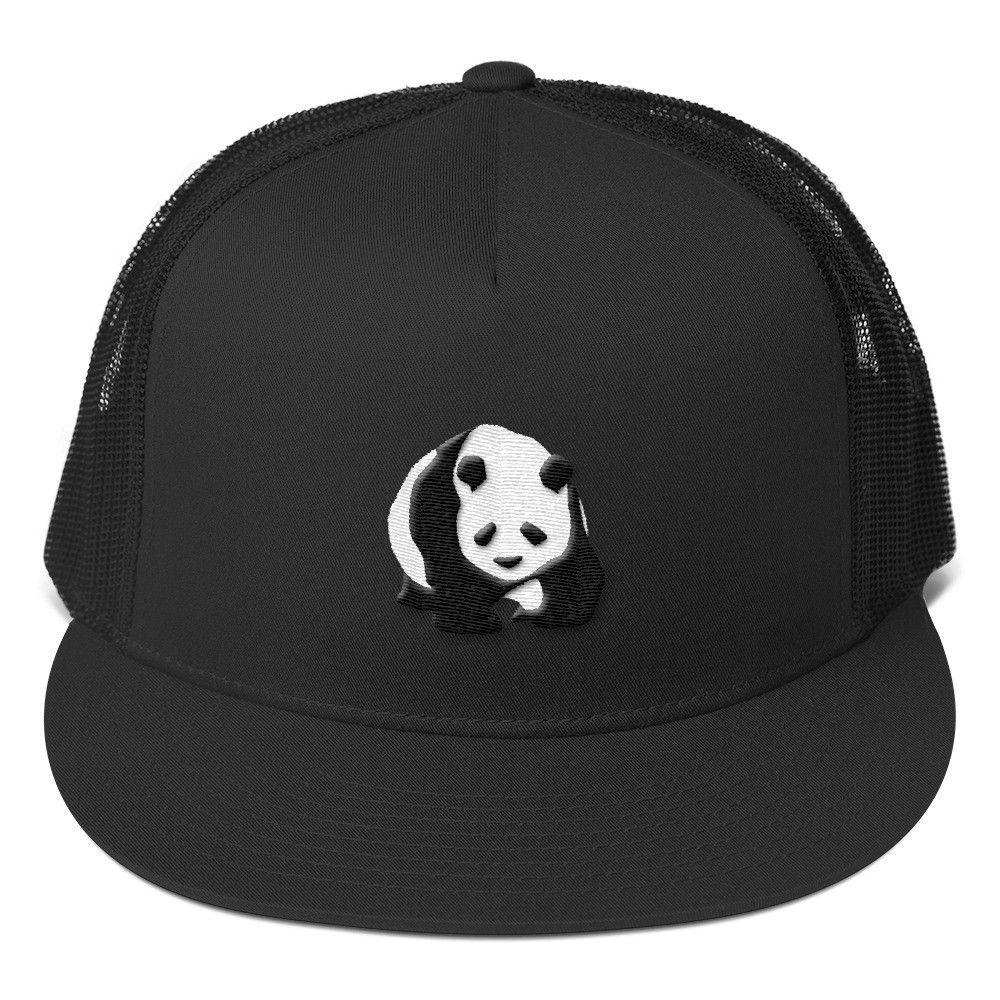 d948249fd92 Panda Embroidered Trucker Cap