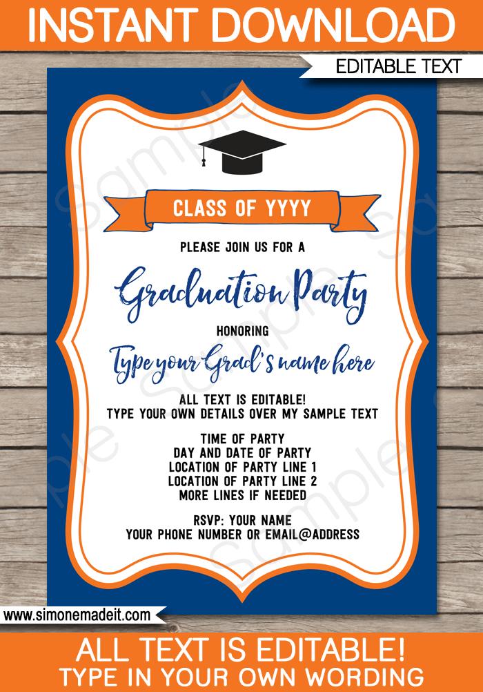 graduation party invitations template graduation pinterest