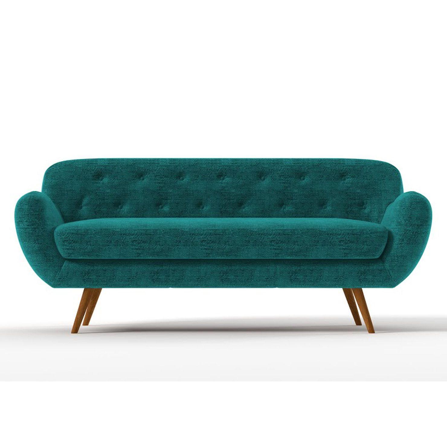 Zefir 3 Seater Sofa Blue ACHICA Work Pinterest