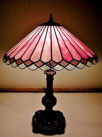 Pink Gl Lamp Foter