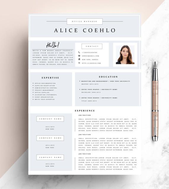 Cv Resume Template Word 1 Page Resume Template Modern Resume