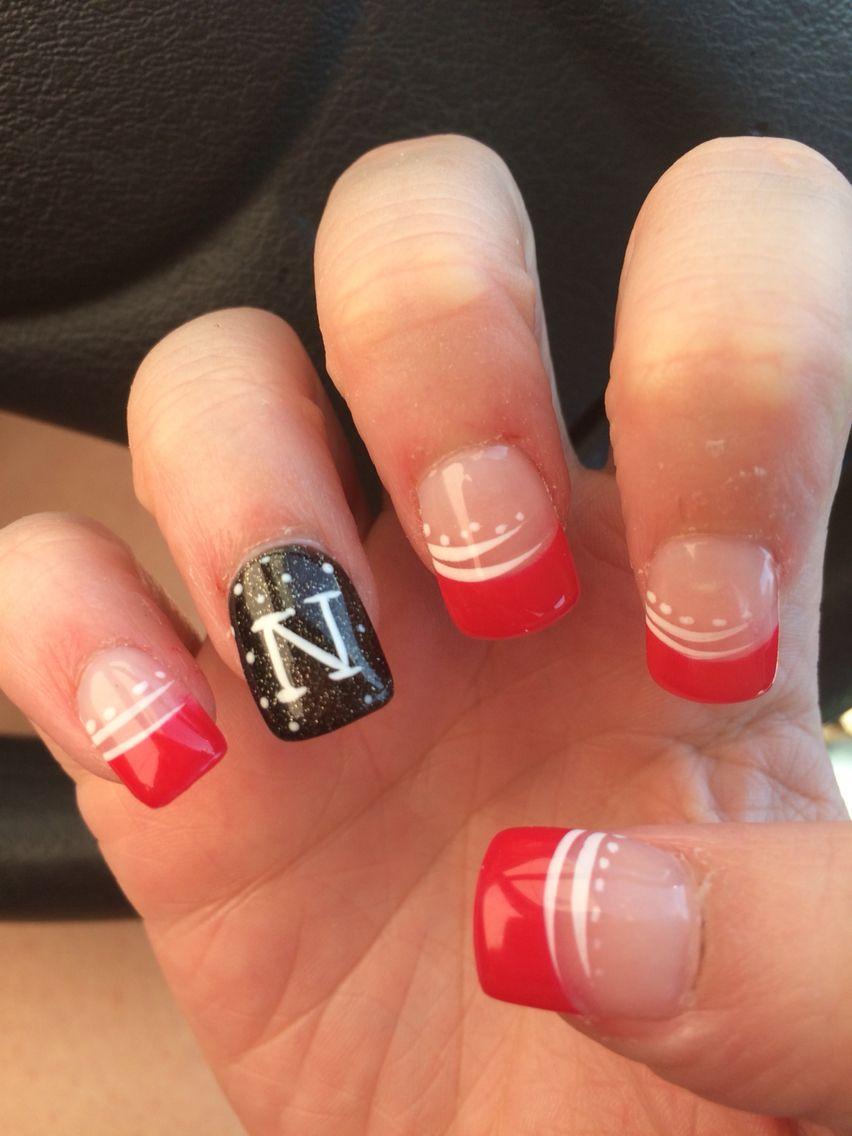 Nebraska Husker nails | Creative | Pinterest | Football nails ...