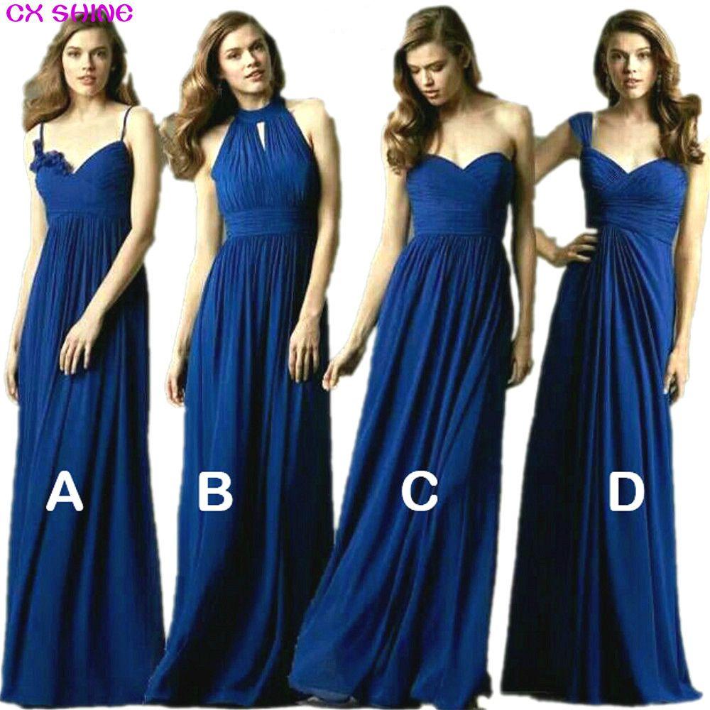 Cx shine new custom color u size sweet style long bridesmaid