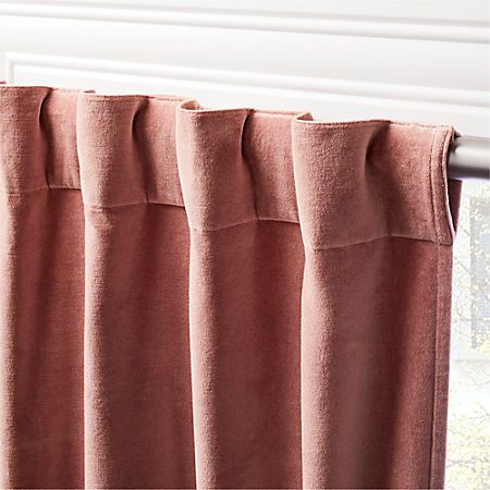 Panel Curtains Pink Velvet, How To Wash Cotton Velvet Curtains
