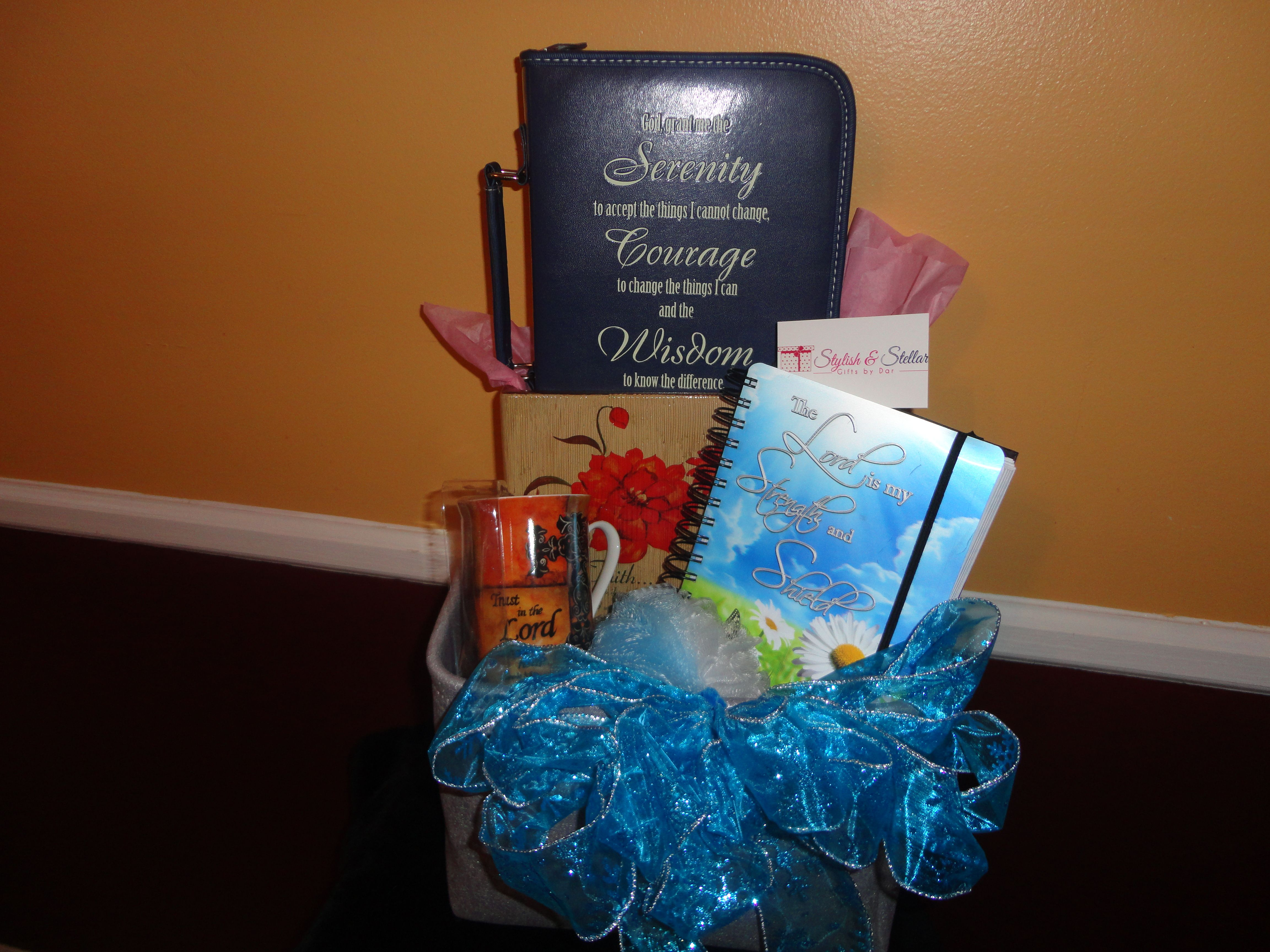 Spiritual Gift Basket! Was customized for a special Mom! & Spiritual Gift Basket! Was customized for a special Mom! | Stylish ...