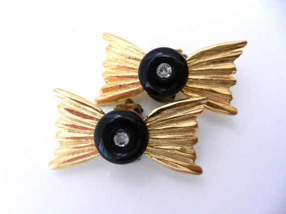 1970 Italian vintage earrings  gold & by VintageItalianJewel, $34.00