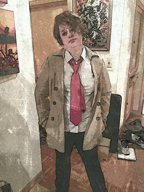 John Constantine Cosplay with cool filter.